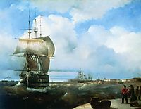 The Great Roads at Kronstadt, 1836, aivazovsky