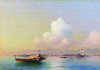 View of Venice from Lido, 1855, aivazovsky