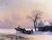 Winter Scene in Little Russia   , 1868, aivazovsky