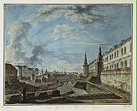 View of the Kremlin from the Troitsky Gate, c.1815, alekseyev