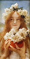 Summer Offering(Young Girl with Roses), 1911, almatadema