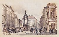 The large market in Vienna, 1845, altrudolf