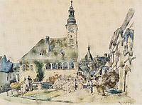 The Town Hall in Mödling, 1842, altrudolf