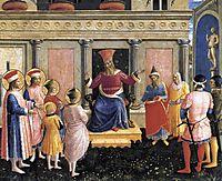 Saint Cosmas and Saint Damian before Lisius, 1440, angelico
