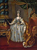 Portrait of Catherine II, 1766, antropov