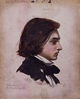 Self-portrait, 1851, arthurhughes