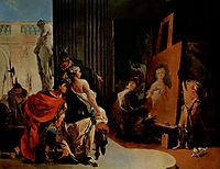 Alexander the Great and Campaspe in the Studio of Apelles, c.1726, battistatiepolo