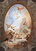 Allegory of Merit Accompanied by Nobility and Virtue, 1758, battistatiepolo