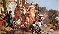 Finding of Moses, battistatiepolo