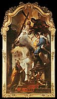 Pope St Clement Adoring the Trinity, 1738, battistatiepolo