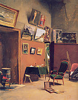 Studio in the rue de Furstenberg, 1865, bazille