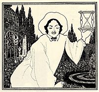 Cover design to -The Pierrot of the Minute-, 1897, beardsley