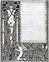 Title page, beardsley