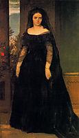 Portrait of actress Fanny Janauscher, bocklin