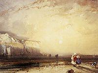 Sunset in the Pays de Caux, 1828, bonington