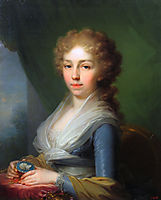 Portrait of Empress Elisabeth Alexeievna, 1795, borovikovsky