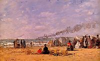 The Beach at Trouville, 1868, boudin