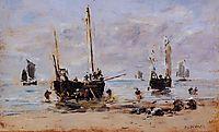 Berck, Fishermen at Low Tide, boudin