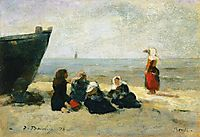 Berck, Fisherwomen on the Beach, boudin