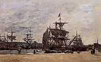 Deauville, Docked Boats, c.1874, boudin