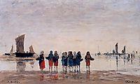 Fisherwomen at Berck, 1875, boudin