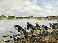 Laundresses on the Banks of the Touques, 1886, boudin