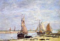 Sailboats near Trouville, 1873, boudin