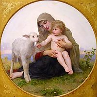 Virgin and Lamb, 1903, bouguereau