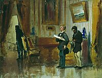 Painters in the hall of a rich man, 1876, bronnikov