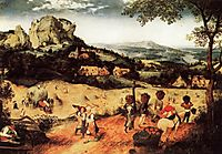 Haying, July, 1565, bruegel