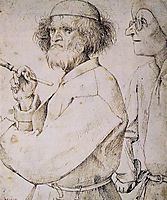 The painter and the buyer, 1565, bruegel