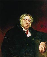 Portrait of I. A. Krylov, 1839, bryullov