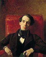 Portrait of the Poet and Translator A. N. Strugovshchikov, 1840, bryullov