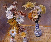 Four Vases of Chrysanthemums, 1893, caillebotte