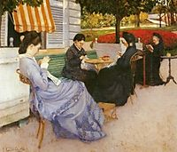 Portraits in the countryside, 1876, caillebotte