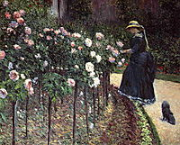 Roses in the Garden at Petit Gennevilliers, c.1886, caillebotte