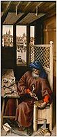The Mérode Altarpiece - Joseph as a medieval carpenter, 1428, campin