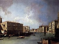 Grand Canal: Looking North from Nethe Rialto Bridge, c.1726, canaletto