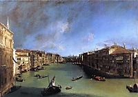 Grand Canal Looking Northeast from the Palazzo Balbi to the Rialto Bridge, c.1719, canaletto