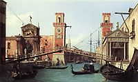 View of the Entrance to the Arsenal, 1732, canaletto