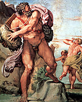Polyphemus Attacking Acis and Galatea, 1605, carracci