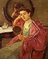 Antoinette at her dresser, 1909, cassatt
