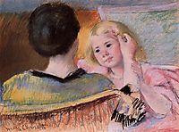 Mother Combing Sara-s Hair, no.2, 1901, cassatt