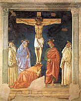 Crucifixion and Saints, c.1441, castagno