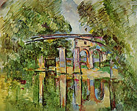 The Aqueduct and Lock, c.1890, cezanne