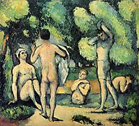Bathers, 1880, cezanne