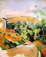 The Bend in the road, c.1905, cezanne