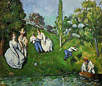 Couples Relaxing by a Pond, c.1875, cezanne