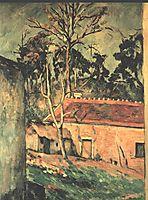 Farmyard at Auvers , c.1880, cezanne