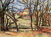 House behind Trees on the Road to Tholonet, 1887, cezanne